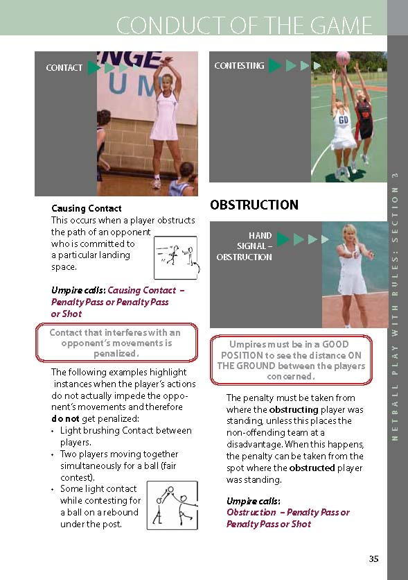 Netball | Netball Play with Rules - page 35